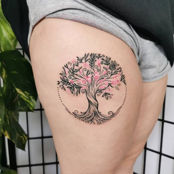hình xăm cây đời