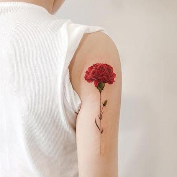 hình xăm hoa cẩm chướng