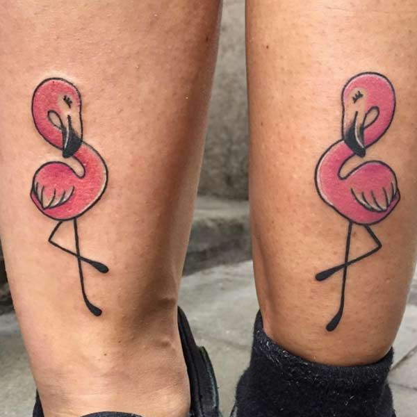 Hình xăm chim hồng hạc