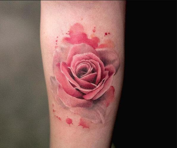 Ý tưởng hình xăm hoa hồng đẹp dành cho nữ (Phần 1)