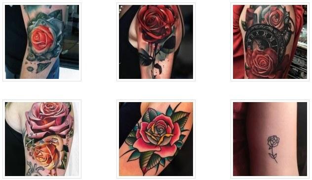 Ý tưởng hình xăm hoa hồng đẹp dành cho nữ (Phần 2)