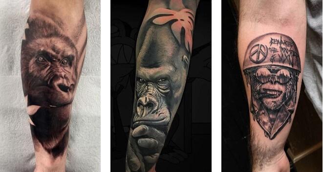 60 ý tưởng hình xăm khỉ đột độc đáo