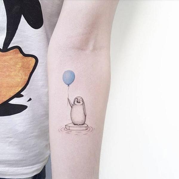 20 ý tưởng hình xăm mini chim cánh cụt cho bạn gái