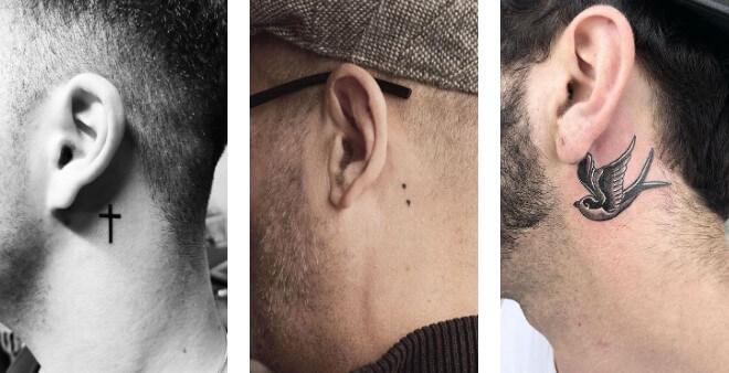 Ý tưởng 45 hình xăm sau tai ấn tượng dành cho nam