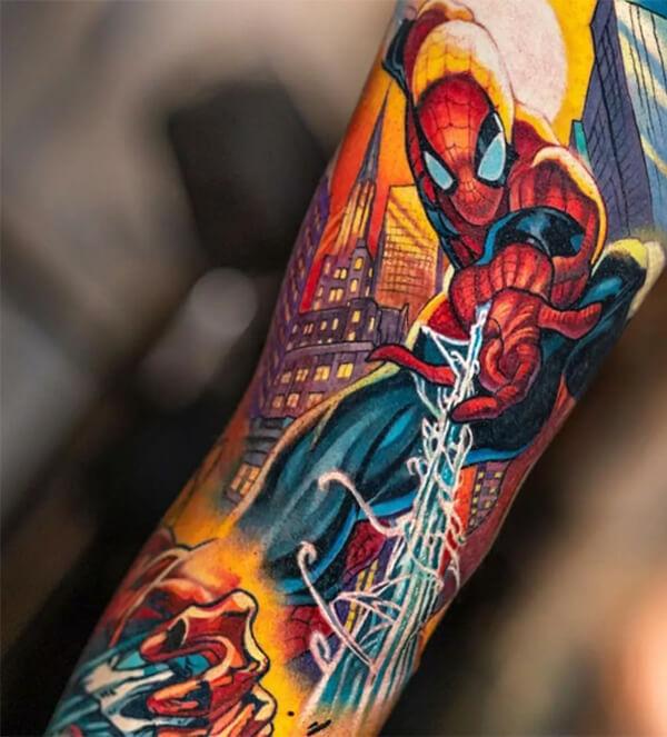Gợi ý hình xăm Spiderman độc đáo